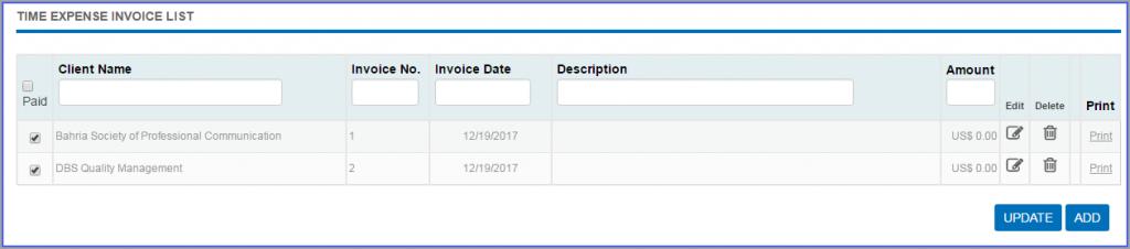Invoice Expense Invoice