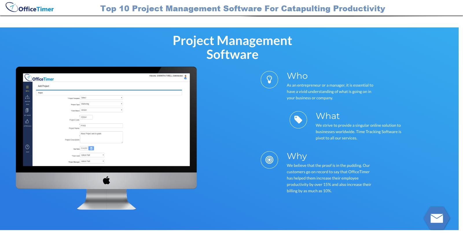 Project Management-OfficeTimer